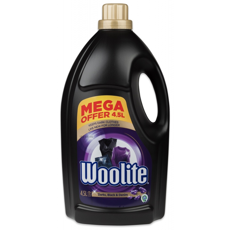 WOOLITE gel 4,5 l/75 PD Darks, Black & Denim