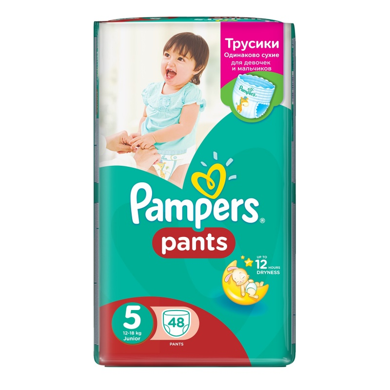 Plenky PAMPERS Pants 5 Junior 12-18 kg 48 ks